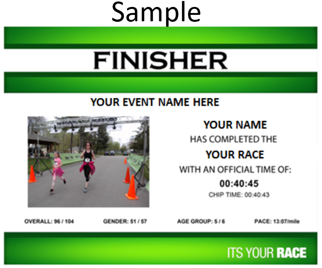 Order A Custom Finisher Certificate By Selecting Picture And Choosing Photo Under Buy Your Photos