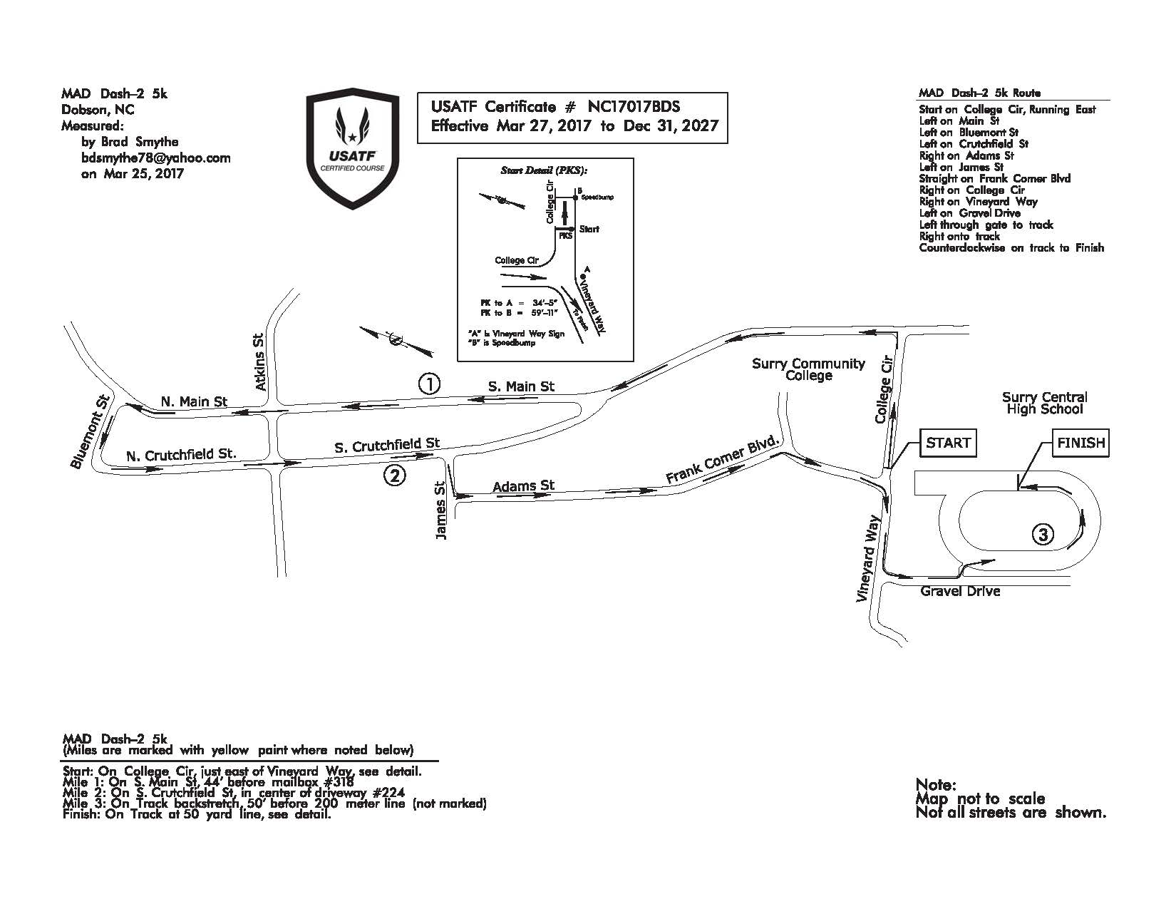 USATF Course Map