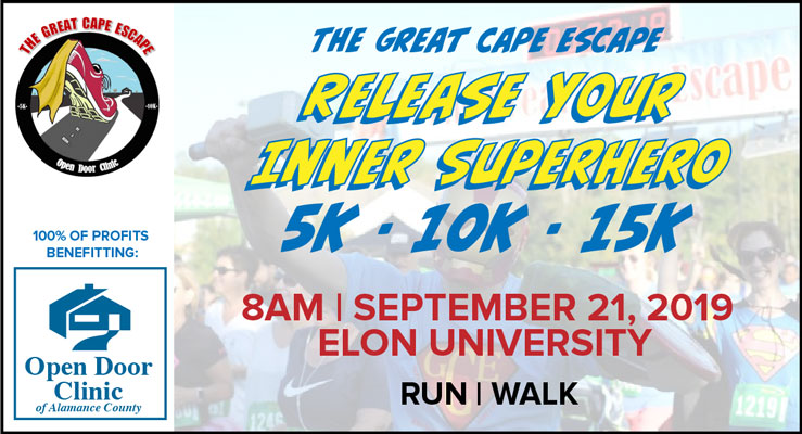 great cape escape 5k 10k 15k september 21 2019 burlington nc