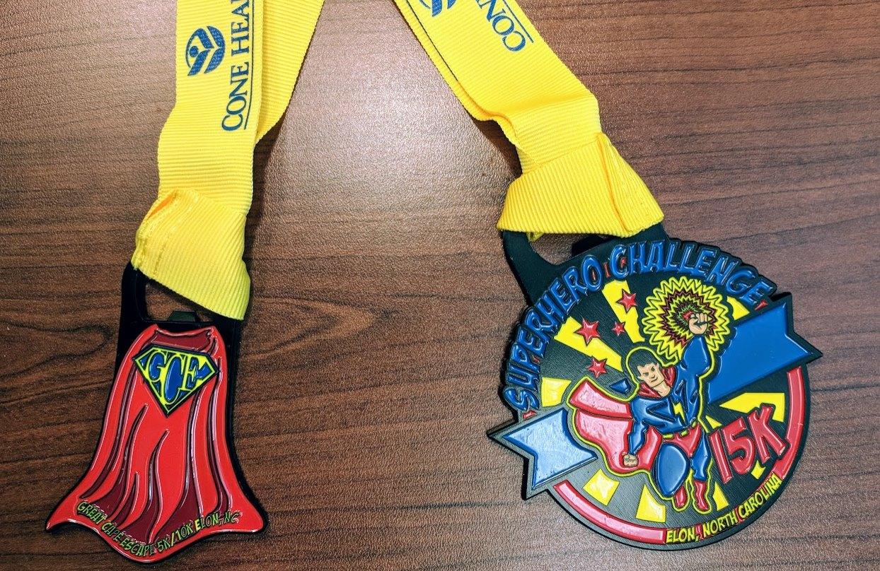 2018 great cape escape medals