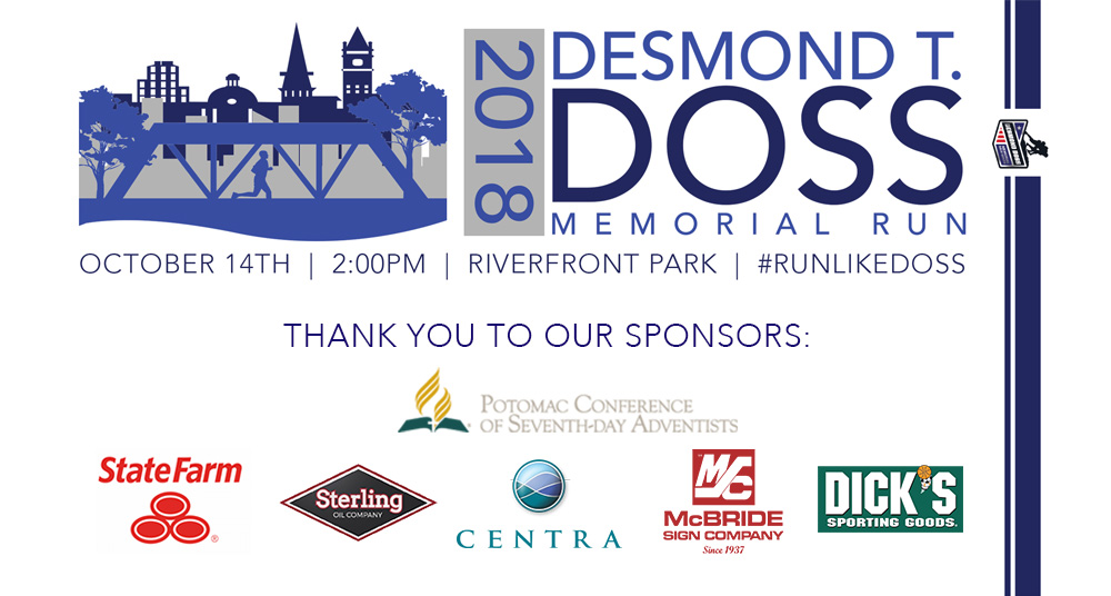 Special Thank you to our sponsors, Potomac Conference of Seventh Day Adventists, Sterling Oil, Centra Health, McBride Sign Company, State Farm and Dick's Sporting Goods